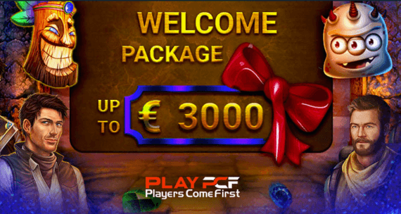 play pcf bonus promotion welcome package
